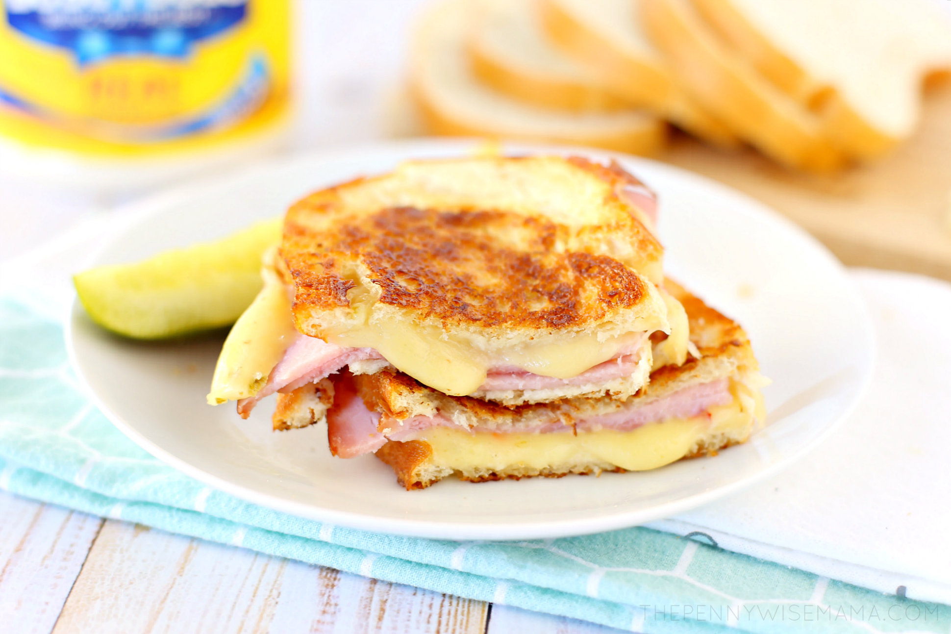 Grilled Ham and Pepper Jack Cheese Sandwich with Mayo - The ..