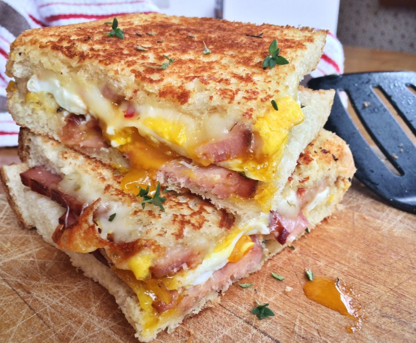 Grilled Pepper Jack Cheese Sandwich with Egg and Ham - Sandwich Recipes With Pepper Jack Cheese