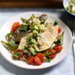 Grilled Plaice Fillets With Avocado Salsa & Rice – Recipes Cooking Plaice Fillets