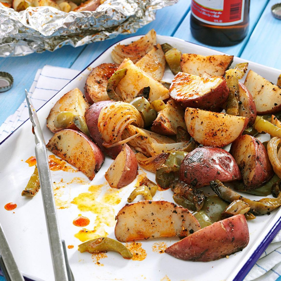 Grilled Potatoes & Peppers - Potato Recipes Dinner