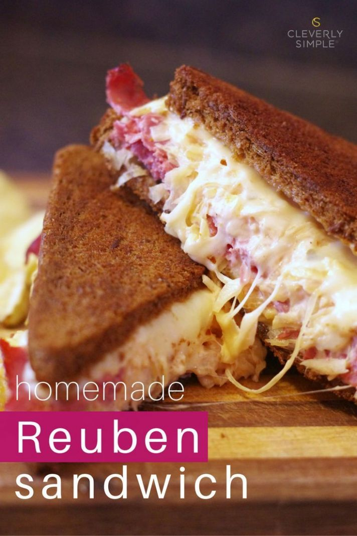 Grilled Reuben Sandwiches with Homemade Dressing - Sandwich Recipes Homemade
