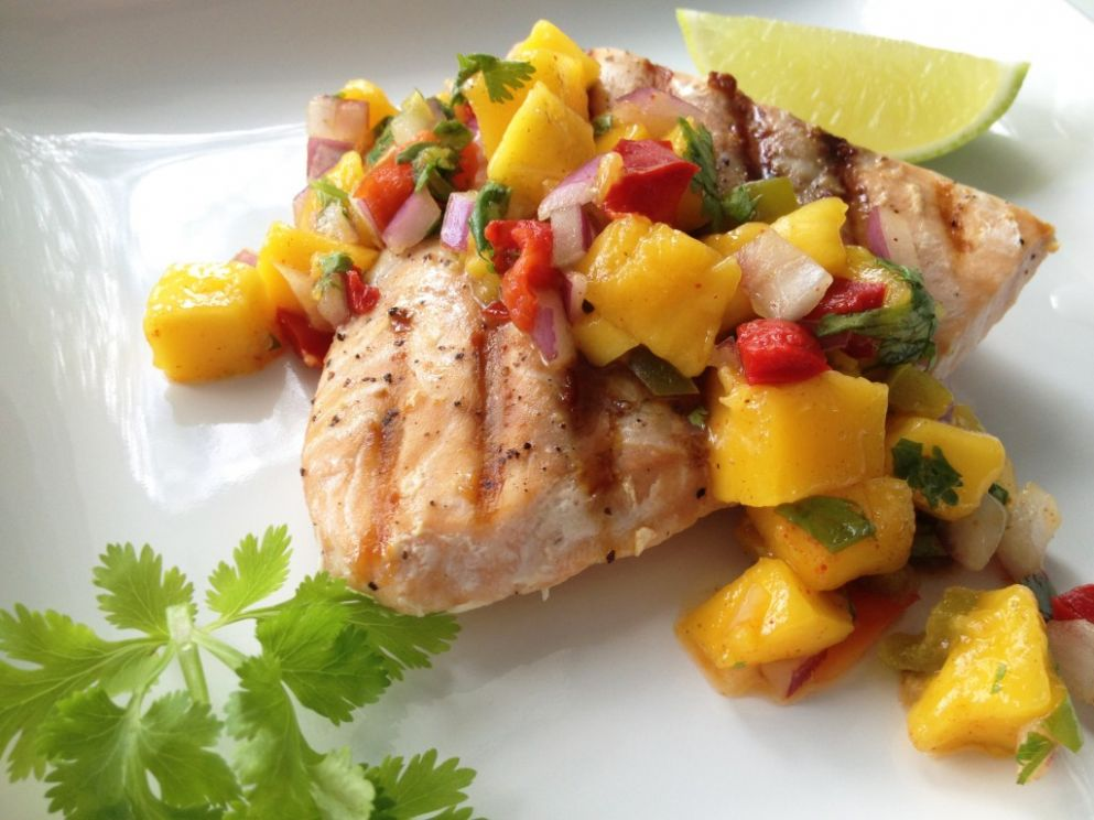 Grilled Salmon with Mango Salsa - Recipe Fish With Mango Salsa