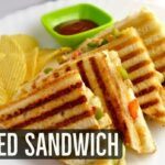 Grilled Sandwich Recipe - Veg Grilled Cheese Sandwich by Lata's Kitchen -  Grilled Paneer Sandwich