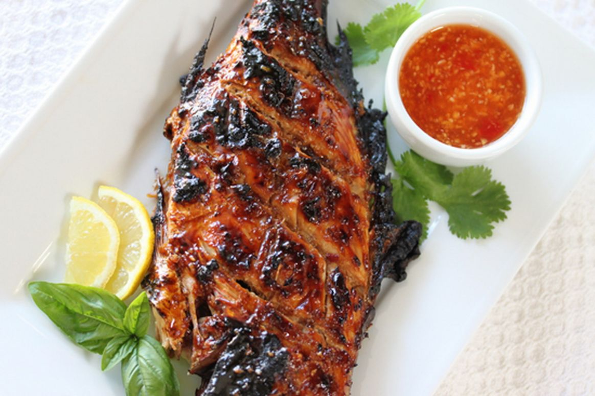 Grilled Whole Red Snapper
