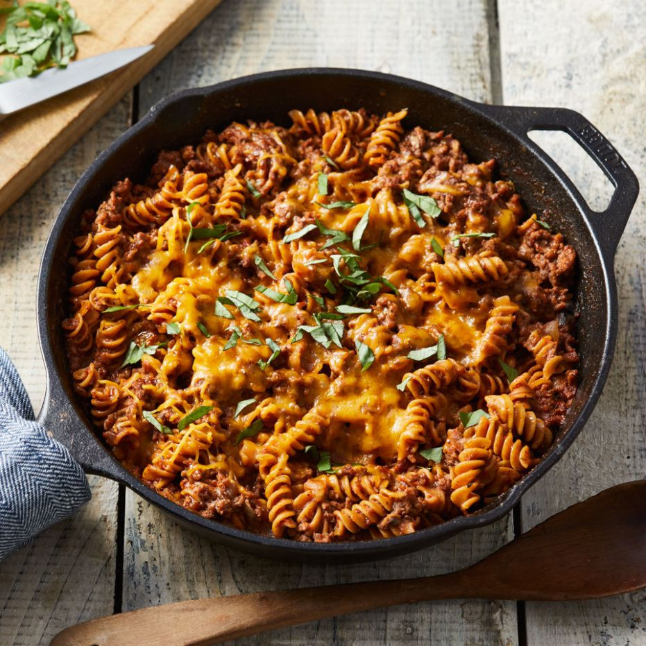 Ground Beef & Pasta Skillet - Recipes Pasta Mince Beef