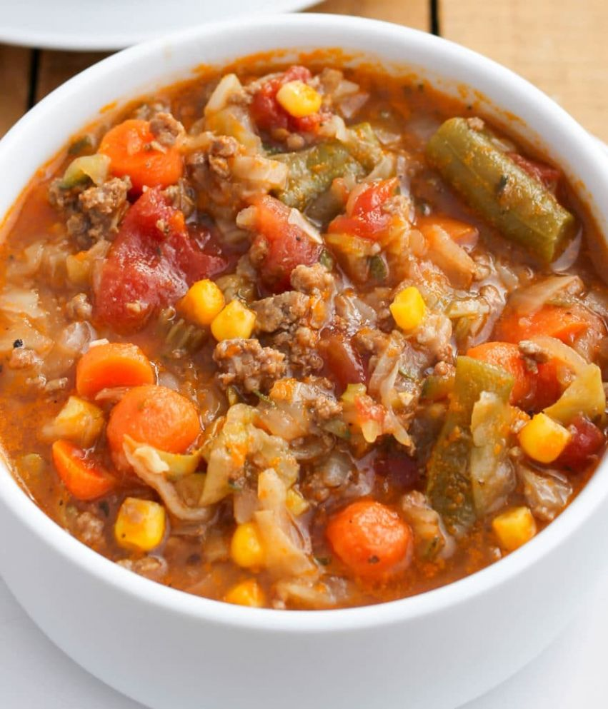 Ground Beef and Cabbage Soup - Soup Recipes Using Ground Beef