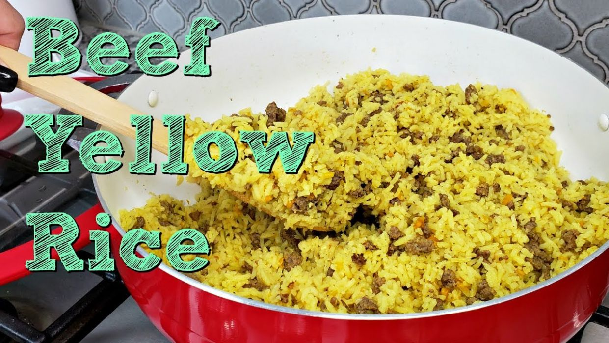 Ground Beef and Yellow Rice Recipe | One Pot Meal Idea | Simply Mama Cooks - Recipes With Yellow Rice And Ground Beef