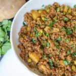 GROUND BEEF CURRY WITH POTATOES & PEAS – Keema Cooking Recipes