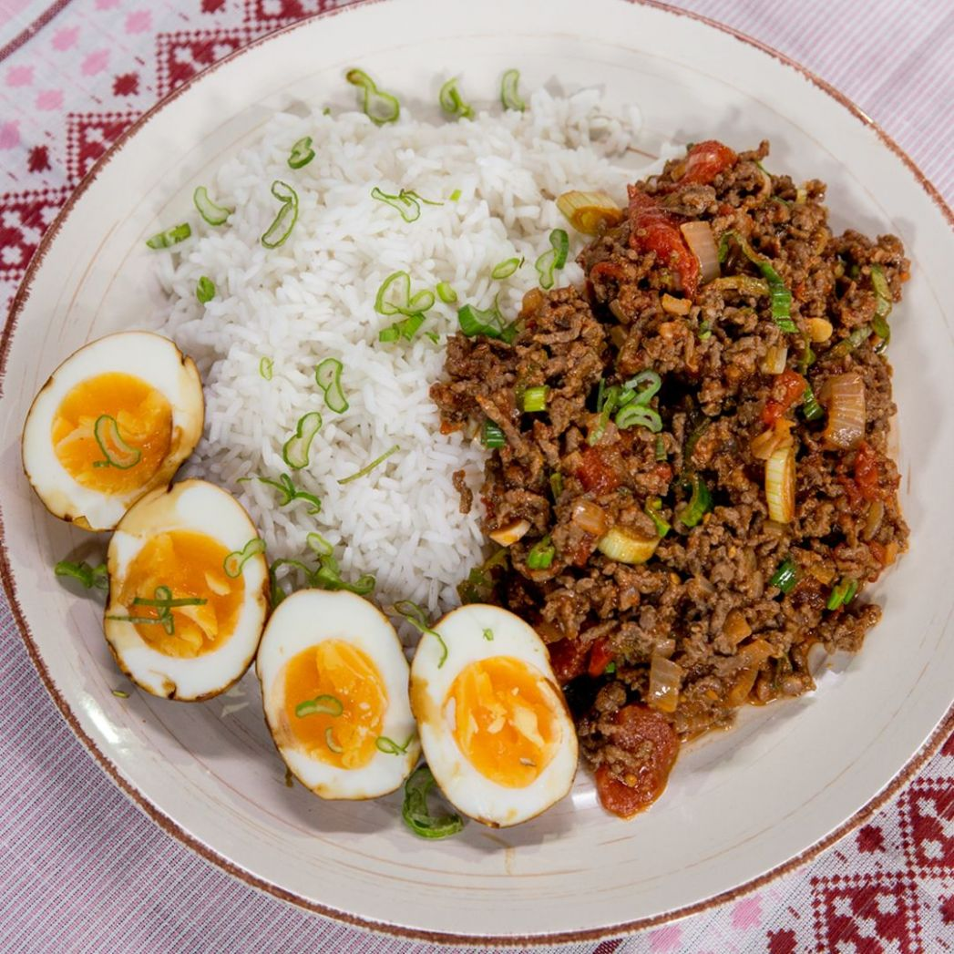 Ground Beef With Rice and Egg - Recipe Egg Ground Beef
