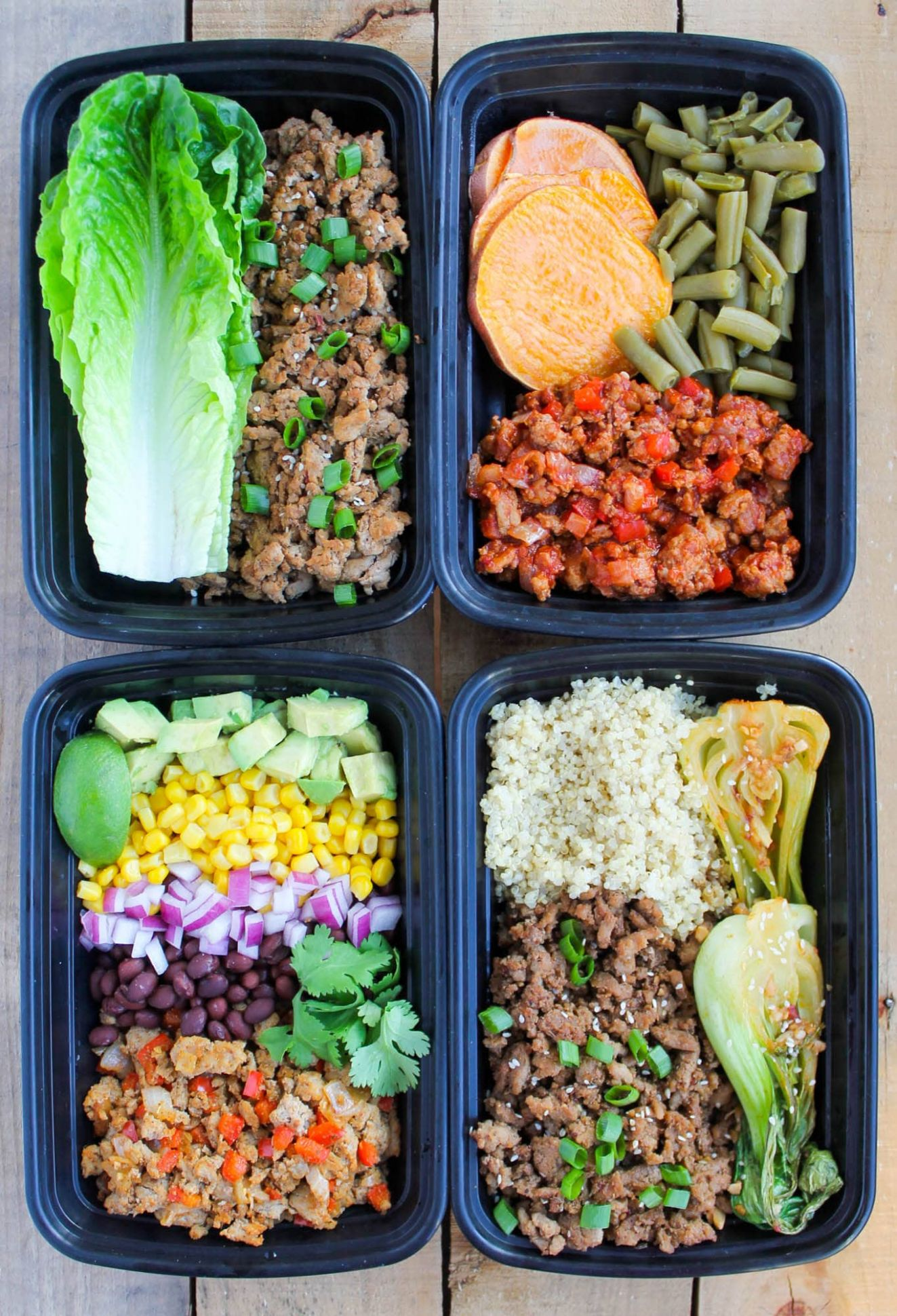 Ground Turkey Meal Prep Bowls: 12 Ways - Healthy Recipes Ground Turkey