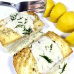 Halibut with Lemon Cream Sauce