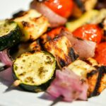 Halloumi And Vegetable Skewers Recipe – Recipe Vegetarian Kebabs