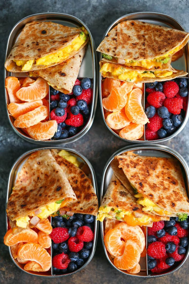 Ham, Egg and Cheese Breakfast Quesadillas - Food Recipes For Breakfast