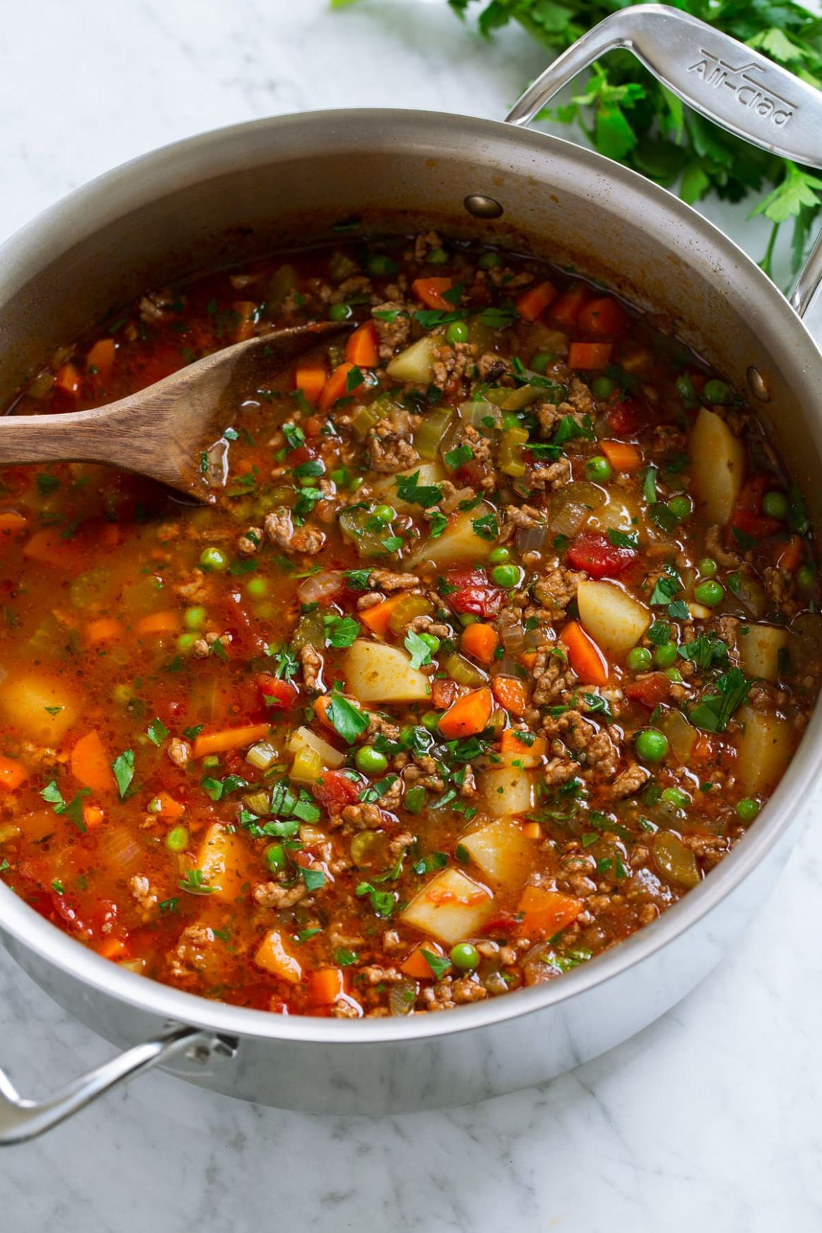 Hamburger Soup - Cooking Classy - Soup Recipes Using Ground Beef