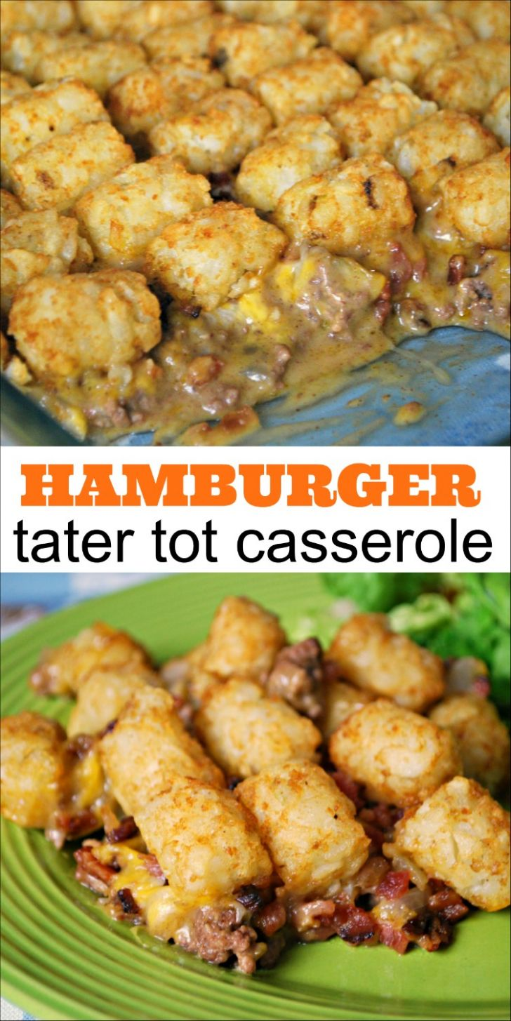 Hamburger Tater Tot Casserole - Mess for Less