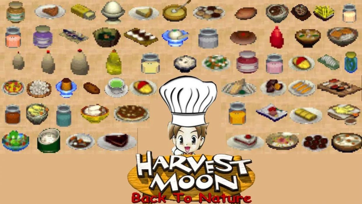 Harvest Moon Back To Nature All Recipe Part 11 - Cooking Recipes Harvest Moon Btn
