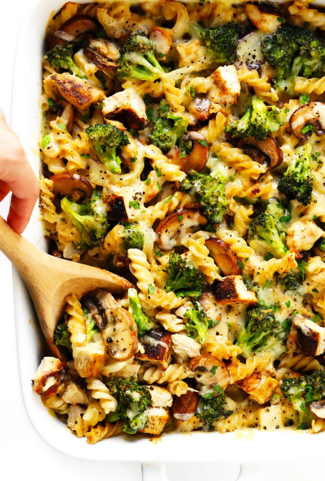 Healthier Broccoli Chicken Casserole Recipe | Gimme Some Oven