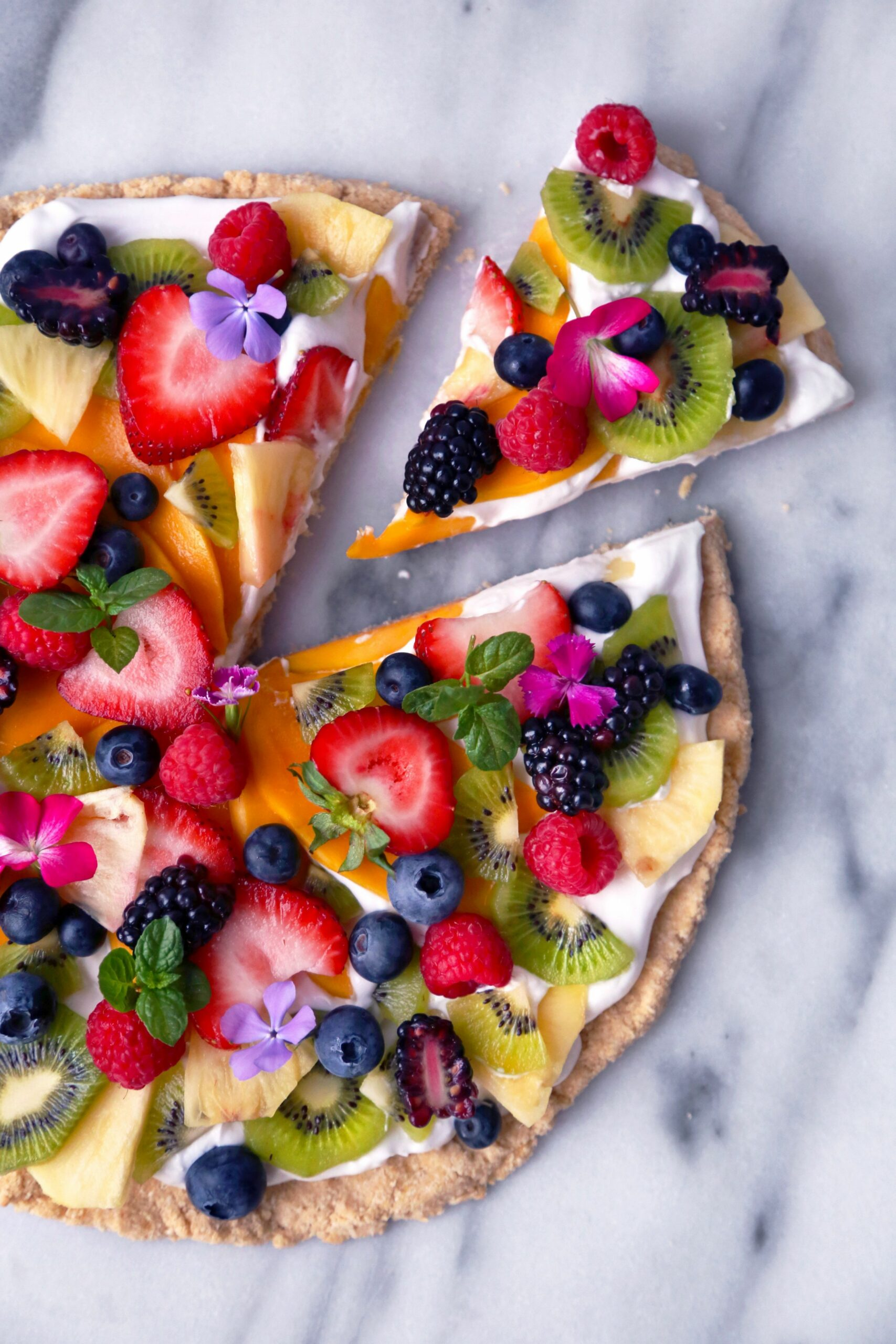 Healthier Tropical Fruit Pizza