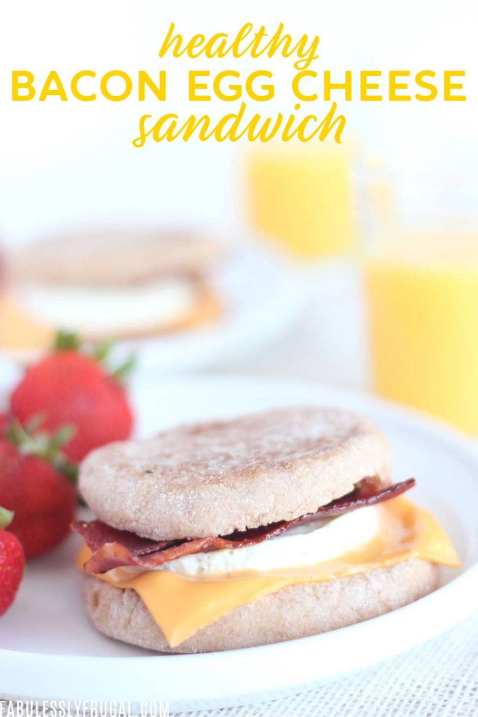 Healthy Bacon, Egg & Cheese Sandwich Recipe