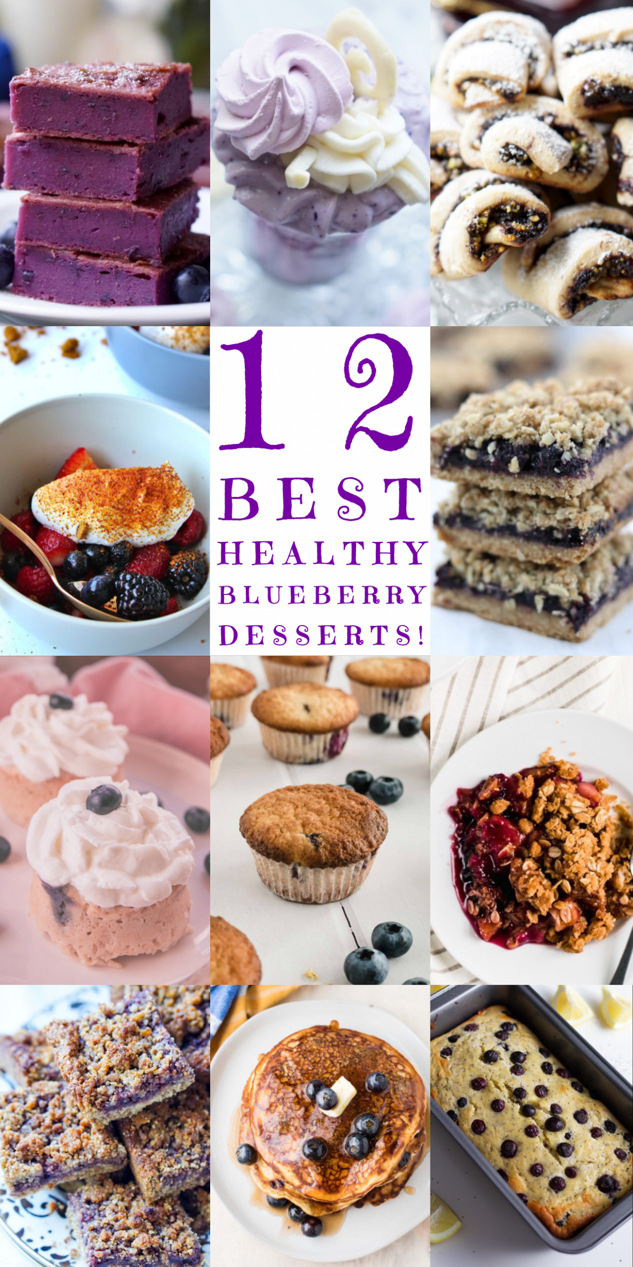 Healthy Blueberry Dessert Recipes | Healthy blueberry desserts ...