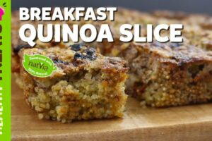 Healthy Breakfast Quinoa Slice - Natvia's Healthy Treats & Dessert Recipes