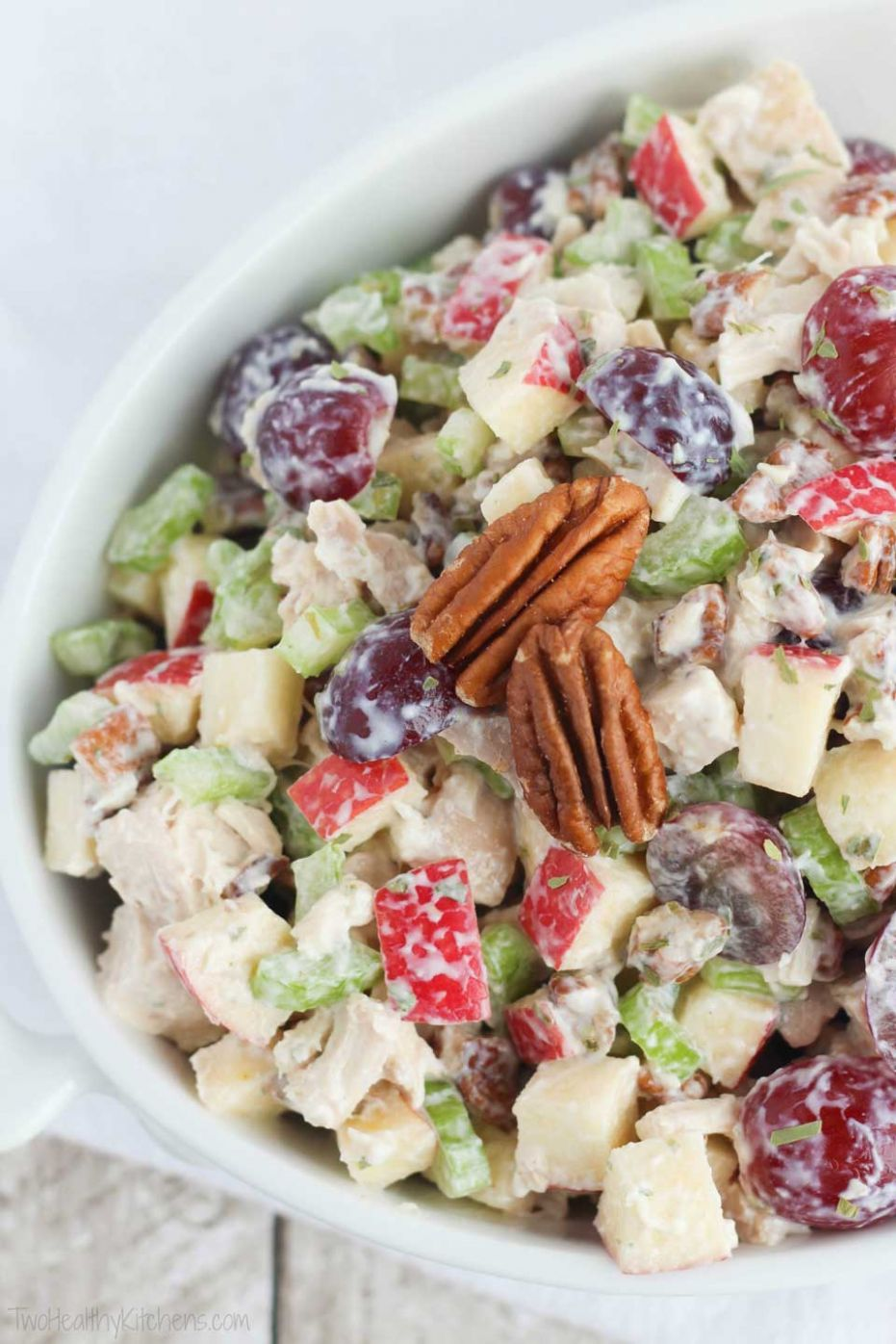 Healthy Chicken Salad with Grapes, Apples and Tarragon-Yogurt Dressing - Recipe Chicken Breast Grapes