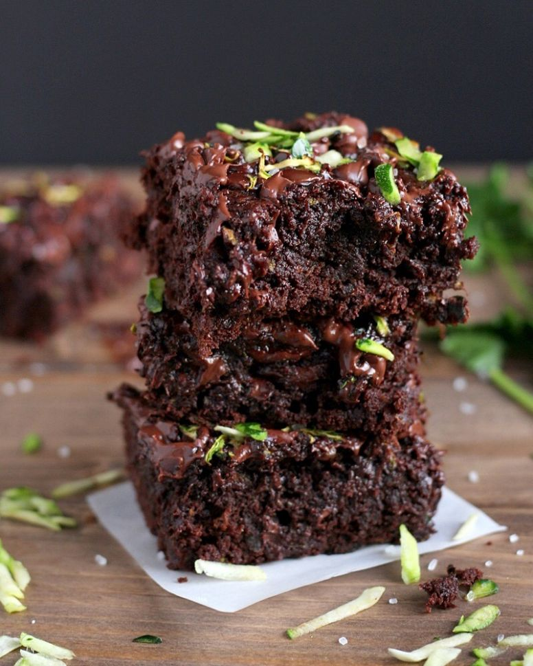 Healthy Double-Chocolate Zucchini Brownies - Recipe Chocolate Zucchini Brownies