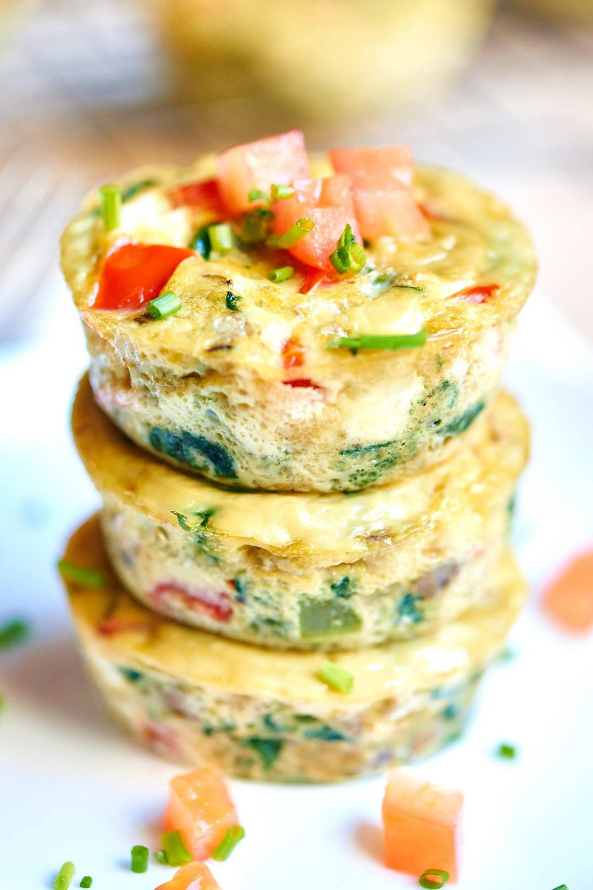 Healthy Egg Muffin Cups - Only 8 Calories, Loaded w/ Veggies ..