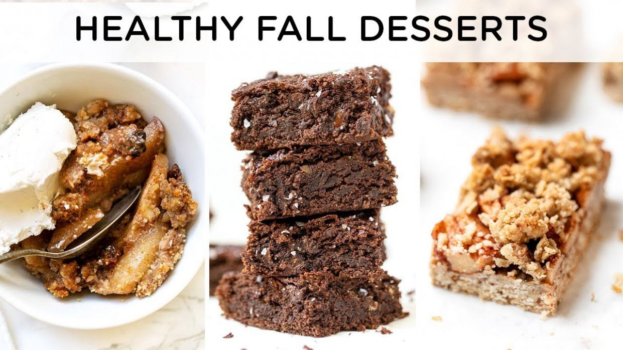 HEALTHY FALL DESSERT RECIPES ‣‣ quick & easy vegan desserts - Vegan Dessert Recipes Quick
