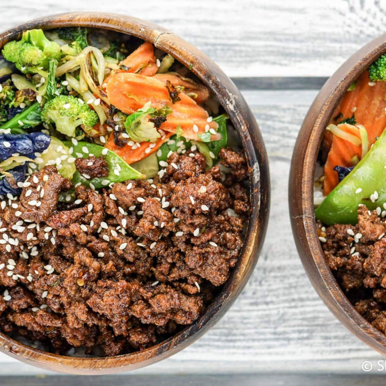 Healthy Korean Ground Beef with Vegetables - Healthy Recipes With Ground Beef