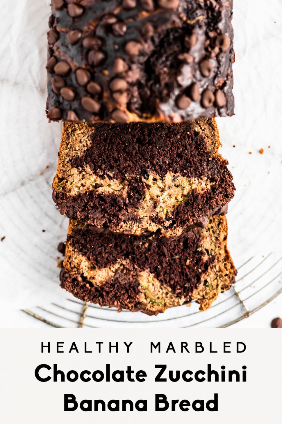 Healthy Marbled Chocolate Zucchini Banana Bread | Ambitious Kitchen - Recipe Chocolate Zucchini Banana Bread