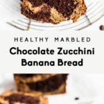 Healthy Marbled Chocolate Zucchini Banana Bread | Ambitious Kitchen – Recipe Chocolate Zucchini Banana Bread