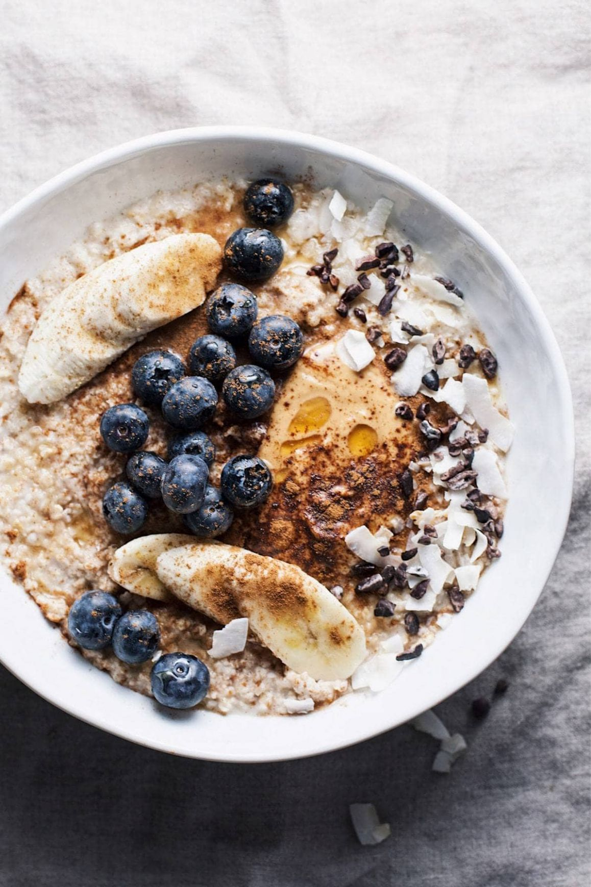 Healthy Peanut Butter Oatmeal Bowl - Healthy Recipes Oats