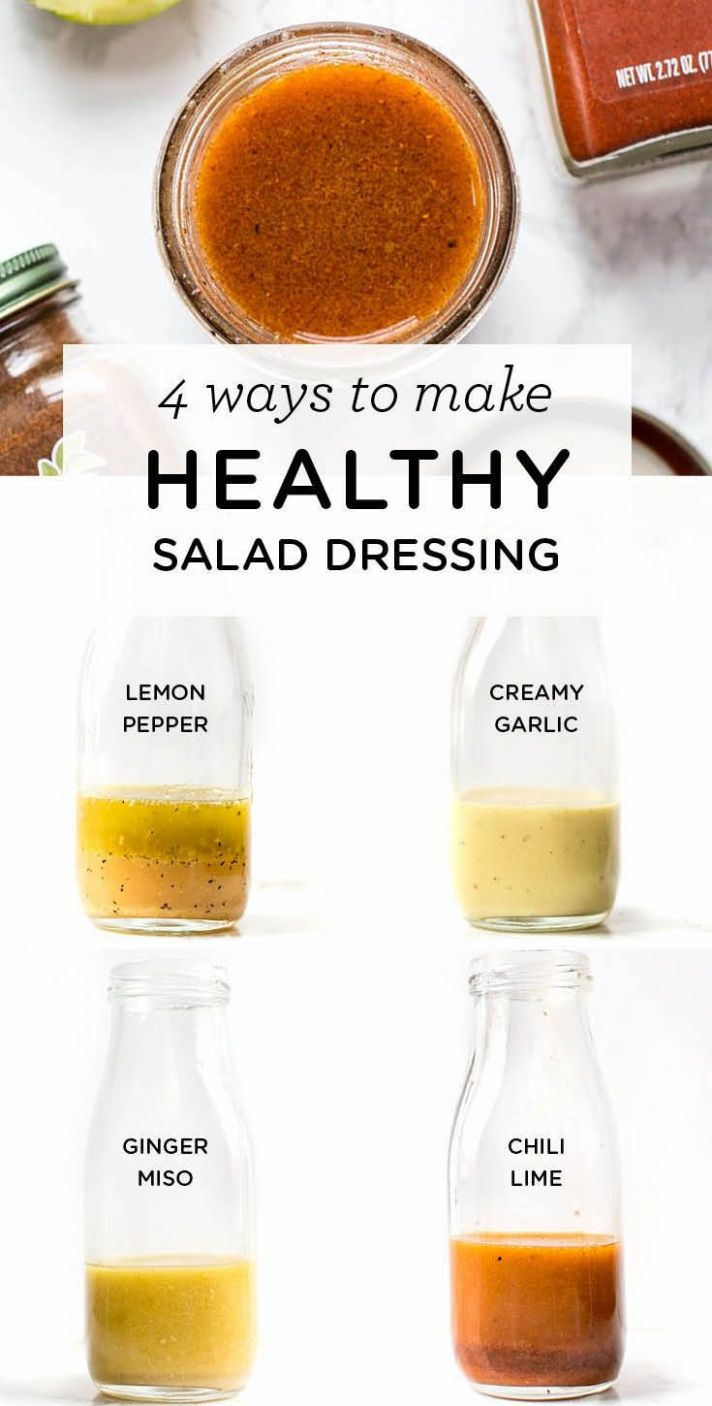 Healthy Salad Dressing: 9 Different Ways | Salad dressing recipes - Recipes Salad Dressings Healthy