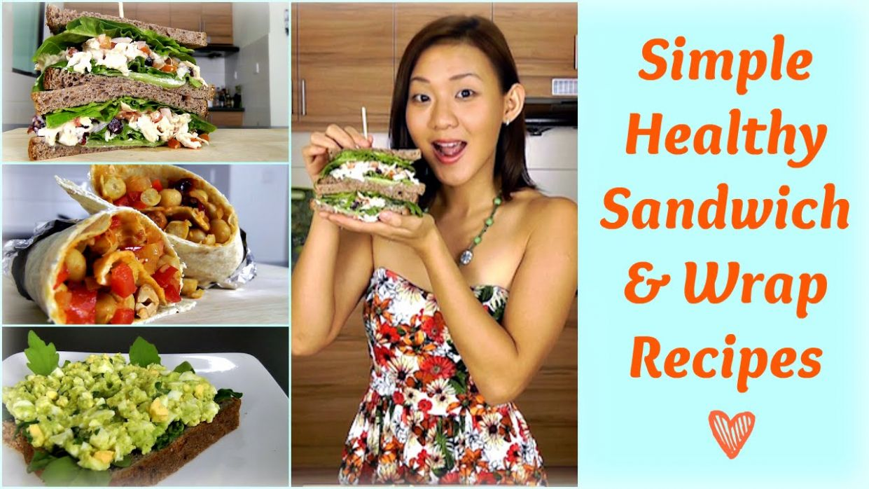 Healthy Sandwich & Wrap Recipes (Packed Lunch for Work or School) - Sandwich Recipes To Take To Work