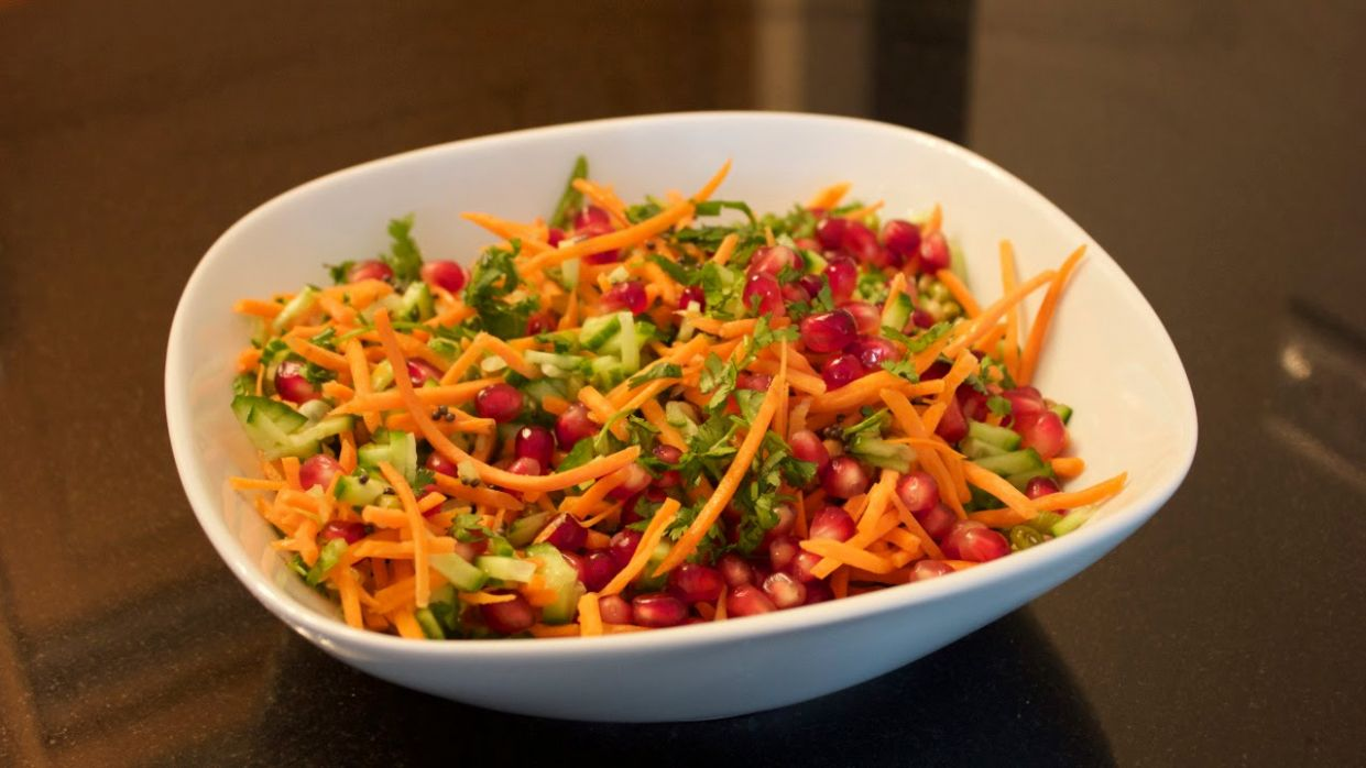 Healthy Sprouts Salad Recipe (Vegan, Indian) - Indulgent Fuel - Healthy Recipes Vegetarian Indian