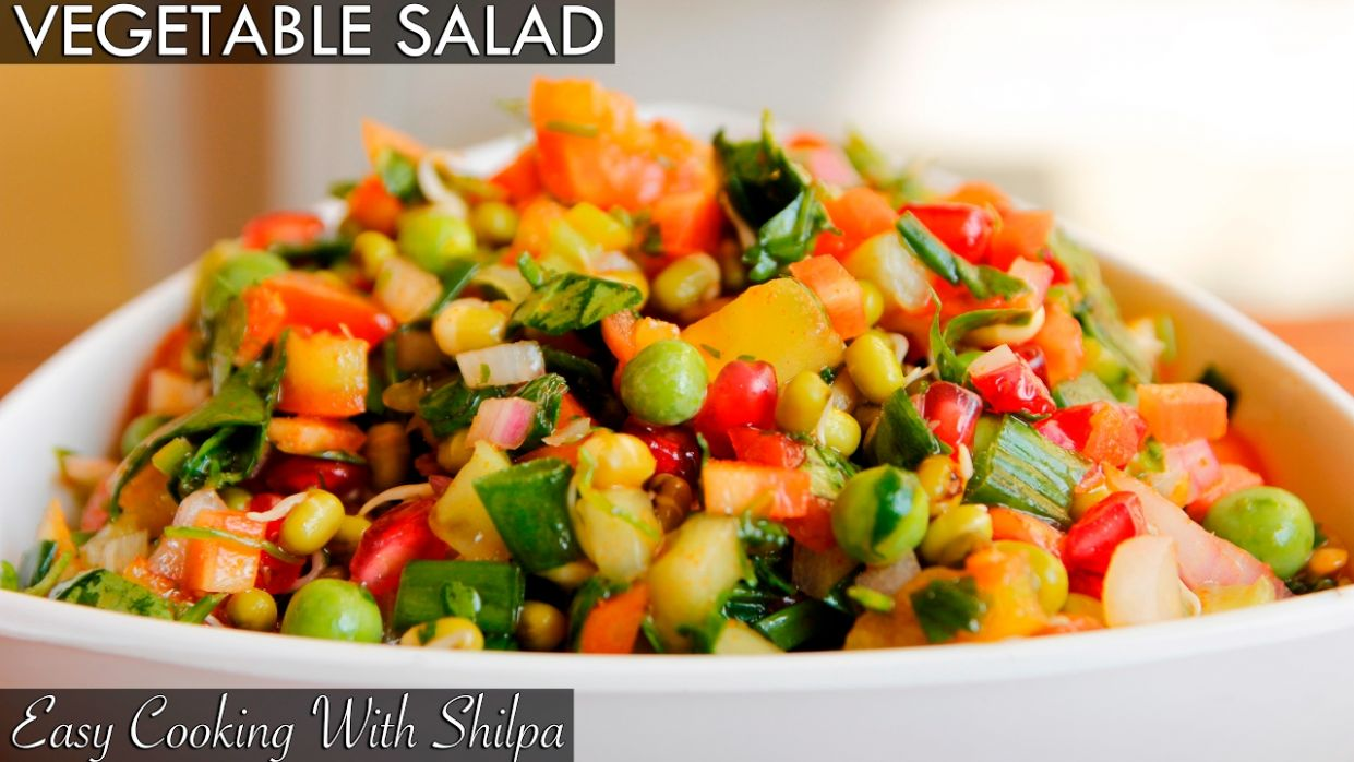 Healthy Vegetable Salad Recipe | Quick and Easy Vegetable Salad |  EasyCookingWithShilpa - Recipes Of Vegetable Salad