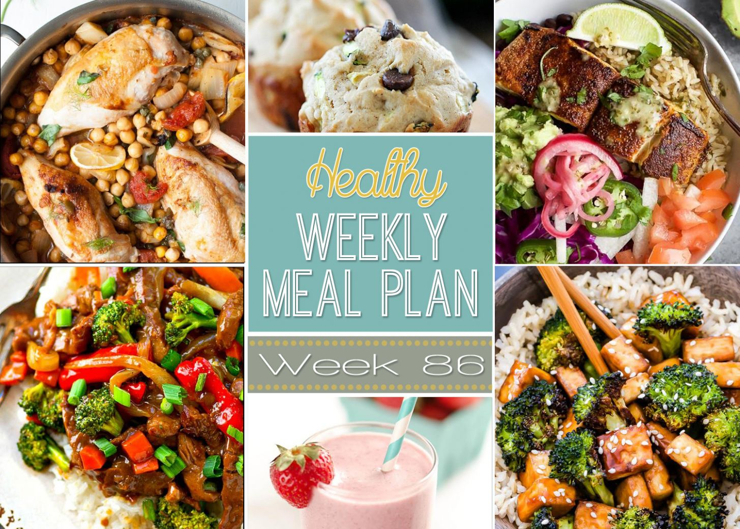 Healthy Weekly Meal Plan - Healthy Recipes Your Man Will Love