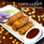 "Hebbar's Kitchen On Instagram: ""corn Cutlet Or Corn Kabab Recipe .."