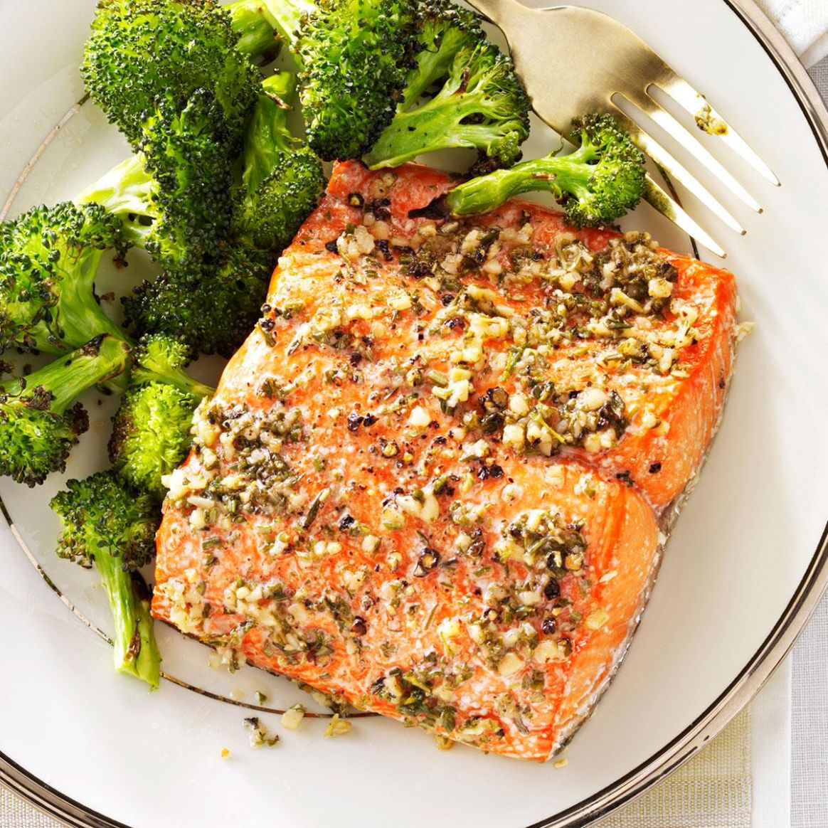 Herb-Roasted Salmon Fillets - Recipes Cooking Salmon Fillets