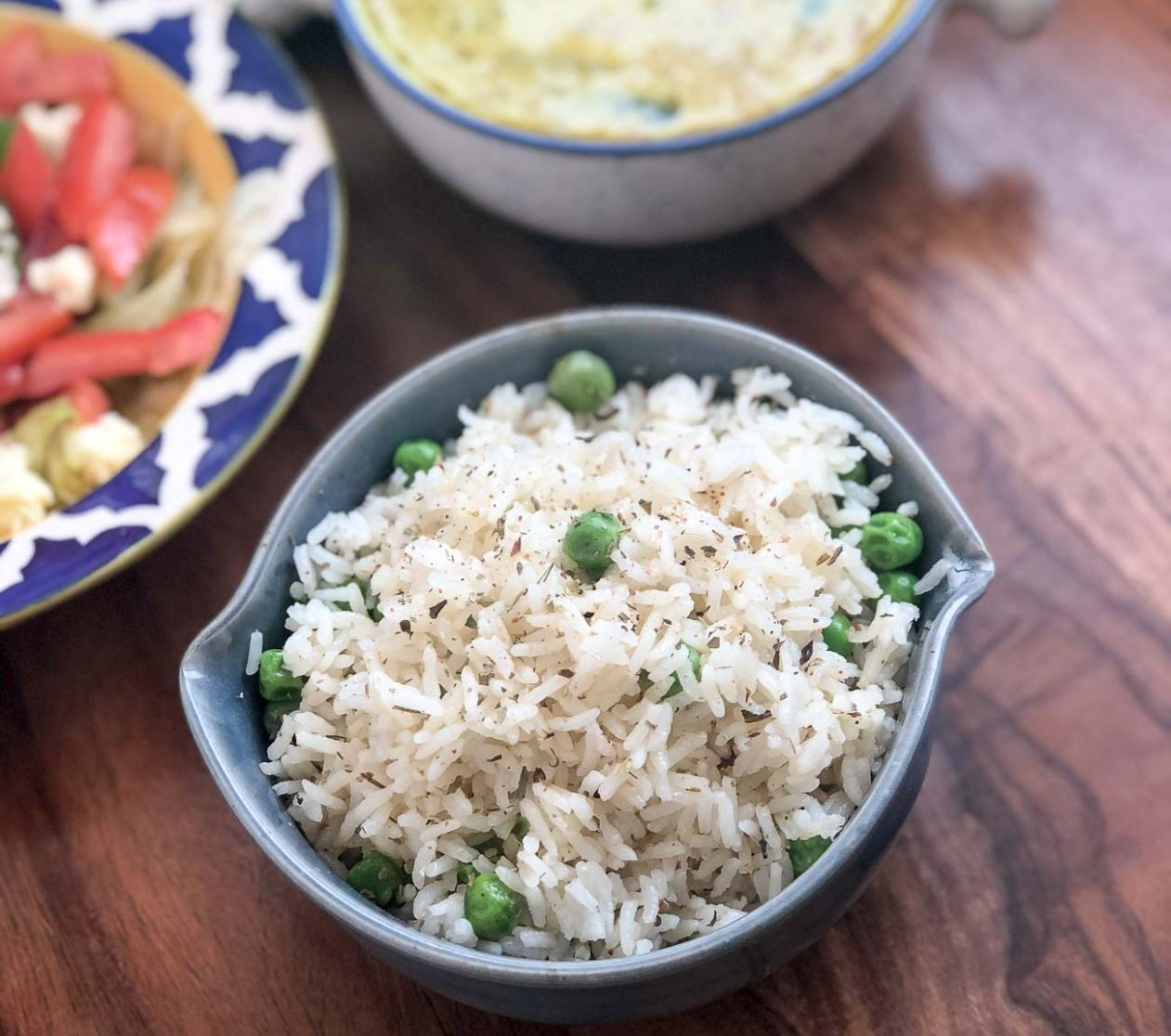 Herbed Buttered Rice Recipe With Green Peas - Recipes Rice And Peas