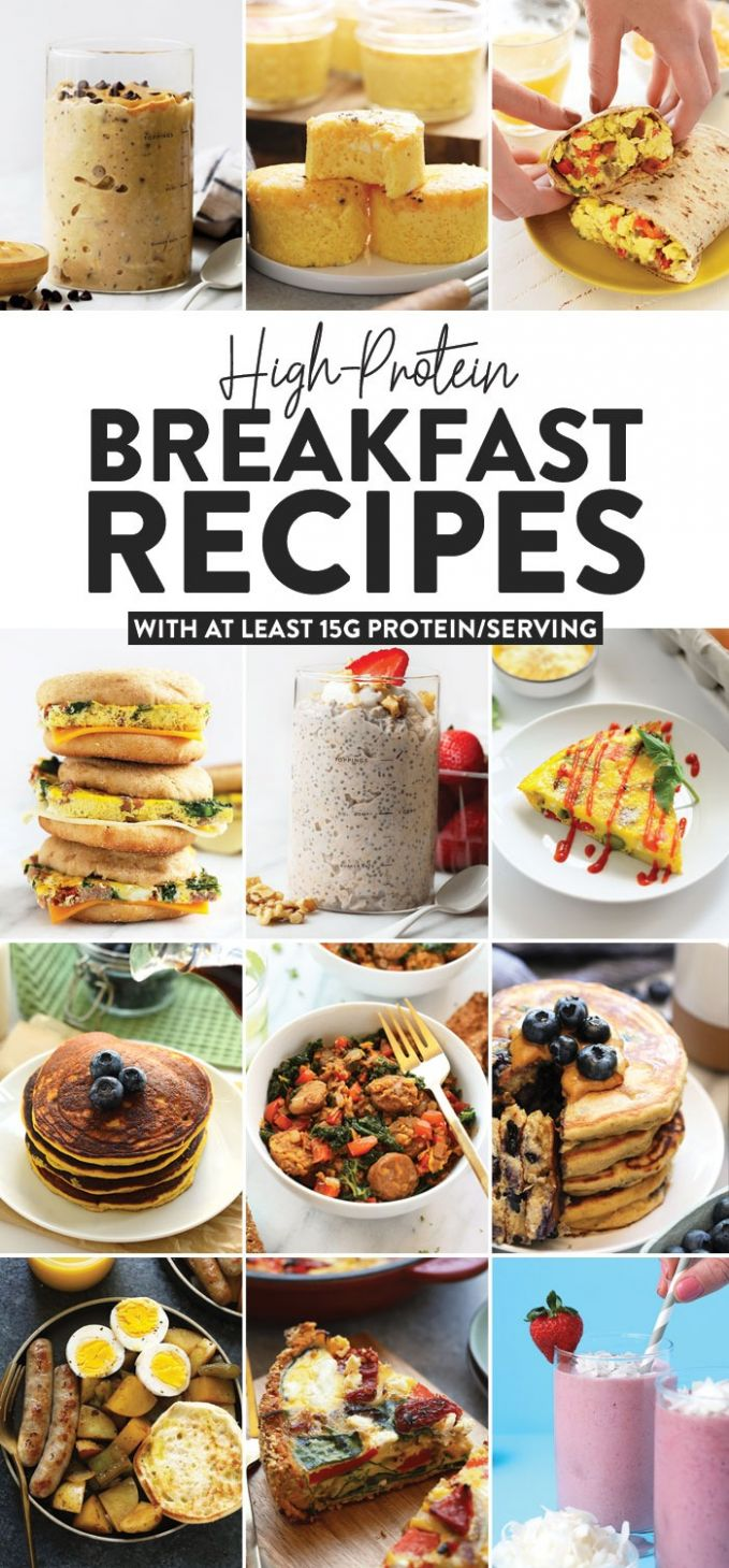 High Protein Breakfast Recipes (w/ at least 8g protein) - Fit ..