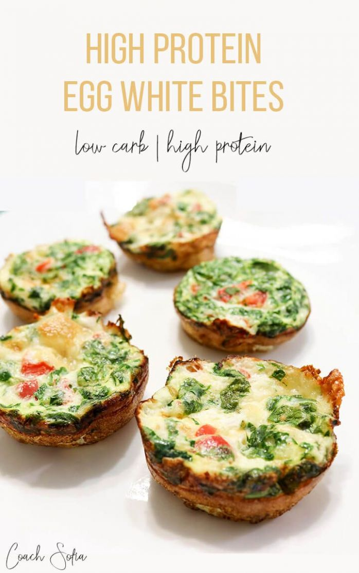 High Protein, Egg White Bites (low carb) - Recipes Egg White Bites