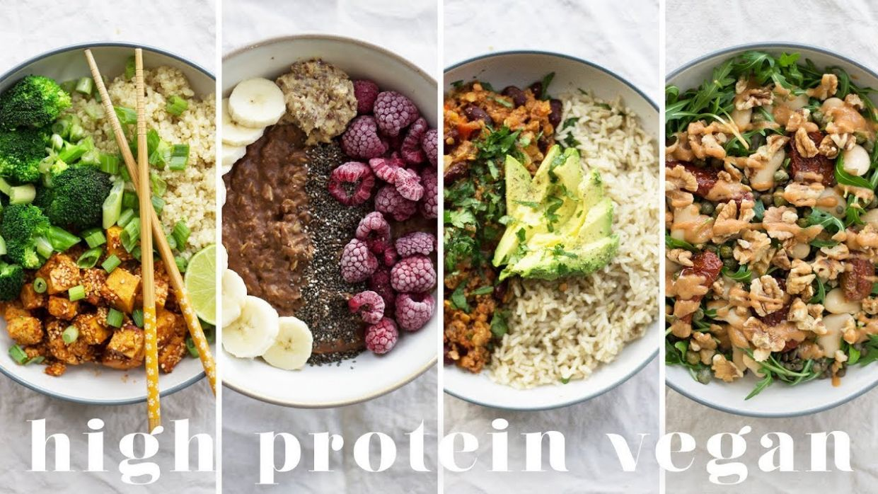HIGH PROTEIN VEGAN MEALS   12 Recipes = 12g Protein - Vegetarian Recipes Rich In Protein