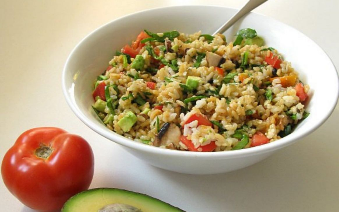 High Raw Rice Salad [Vegan, Gluten-Free] - Recipes With Raw Rice