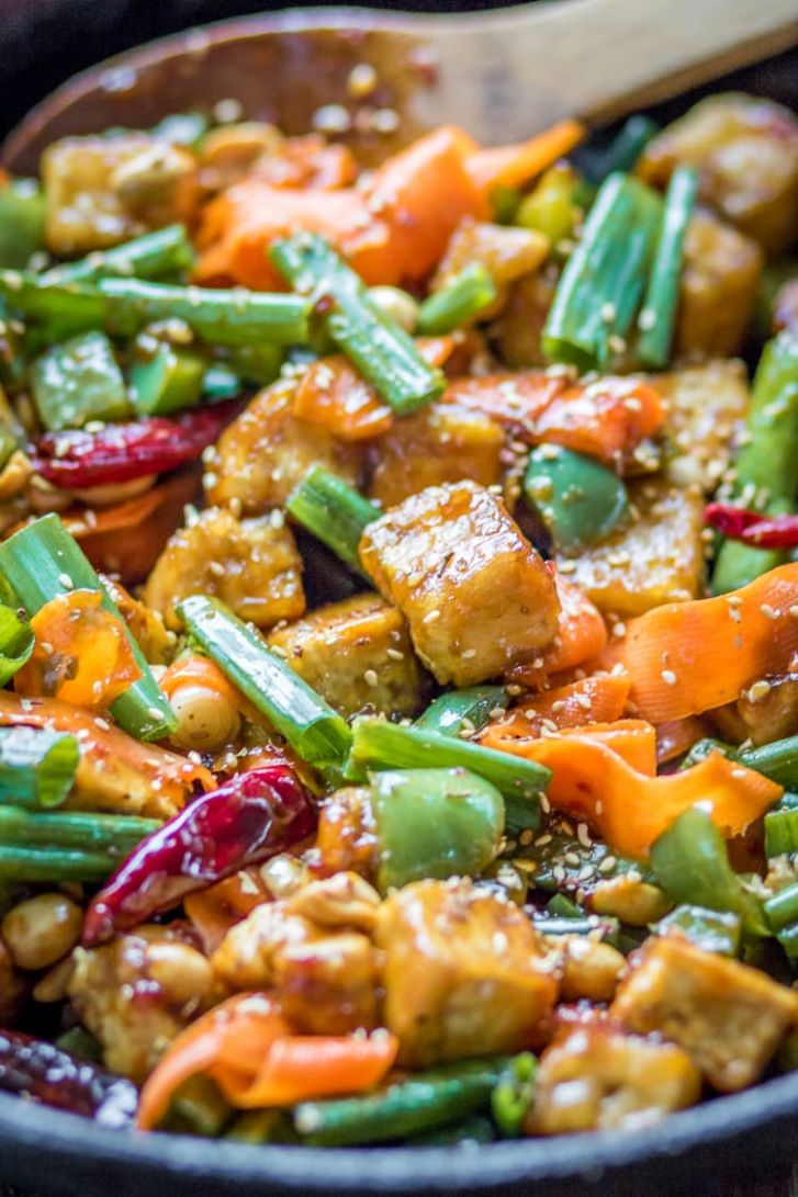 Hoisin Tofu Stir Fry with Peppers and Carrots - The Wanderlust Kitchen - Vegetarian Recipes Using Hoisin Sauce
