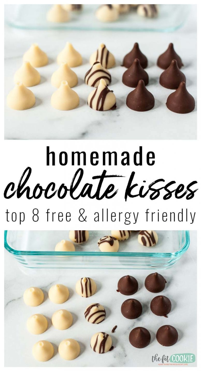 Homemade Chocolate Kisses, Top 11 Free (Video) • The Fit Cookie - Recipe Chocolate Kisses