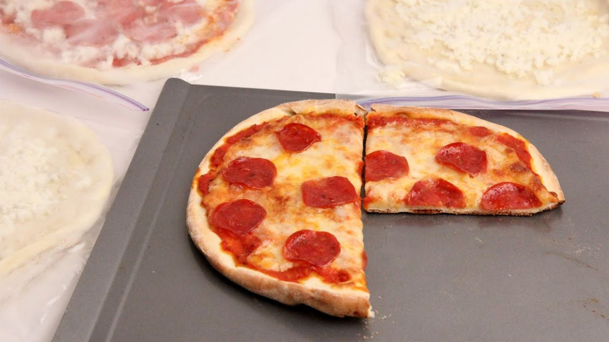 Homemade Frozen Pizzas - Laura Vitale - Laura in the Kitchen Episode 8 - Pizza Recipes Laura Vitale