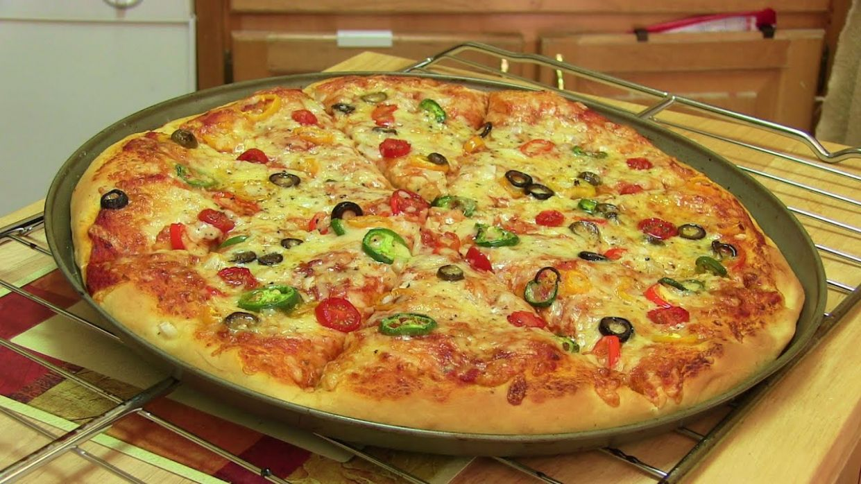 Homemade Pizza Video Recipe⭐️ | Start to Finish Pizza Recipe with Dough,  Sauce and Toppings - Recipes Pizza Cooker