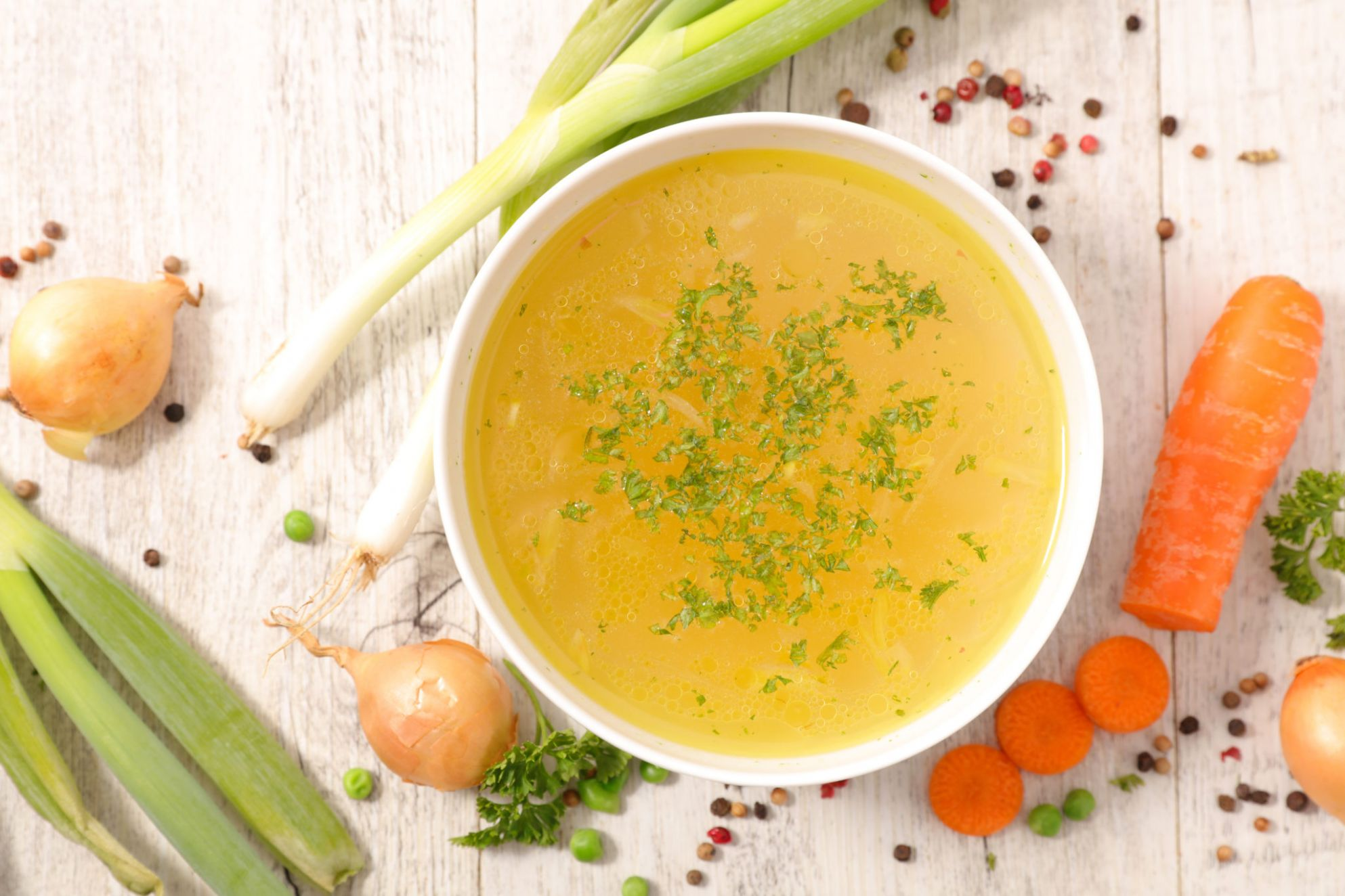 Homemade Vegetable Stock Recipe - Recipes With Vegetable Stock